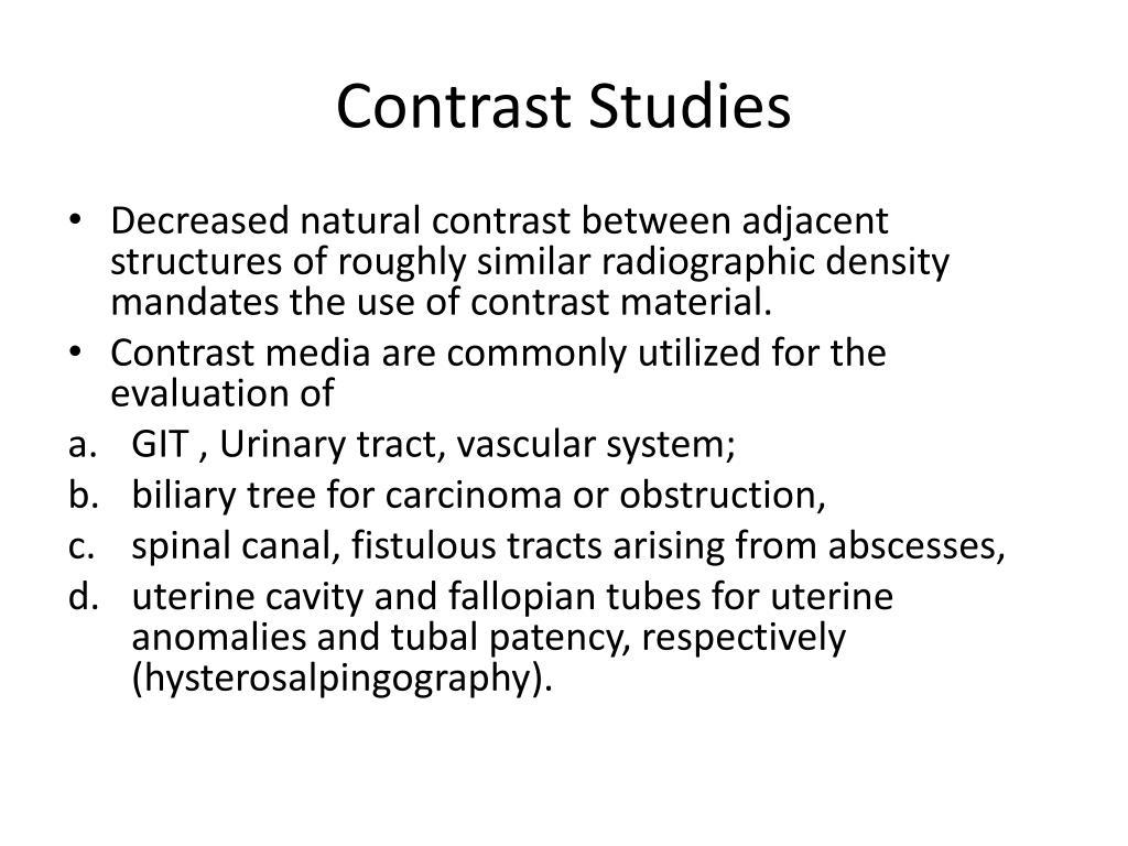 Contrast Studies