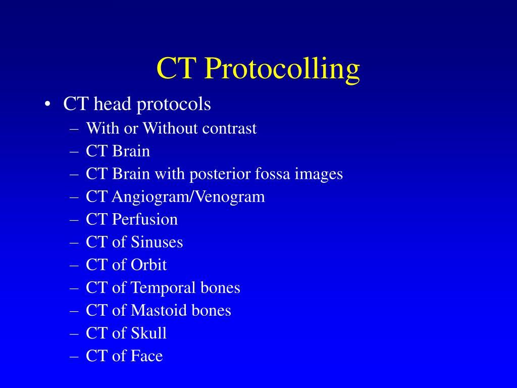 CT Protocolling