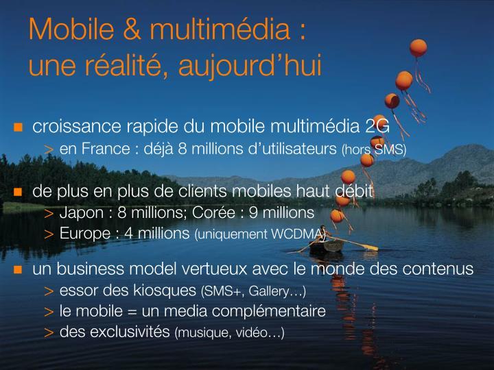 Mobile & multimédia :