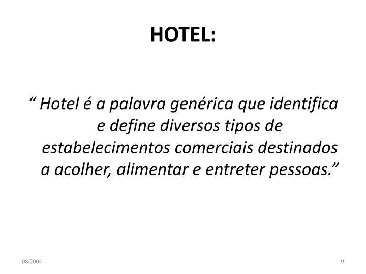 HOTEL: