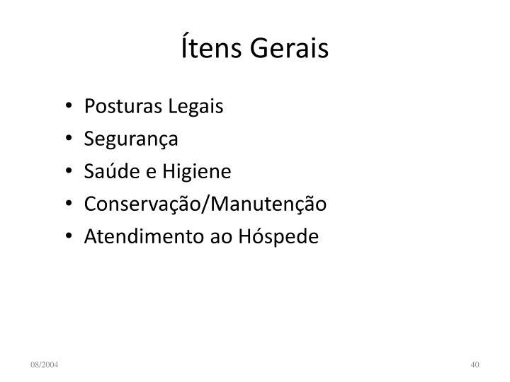 Ítens Gerais