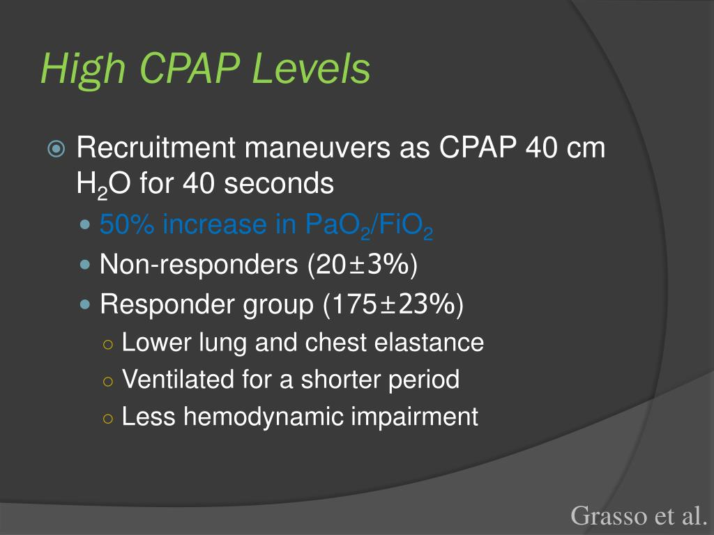 High CPAP Levels