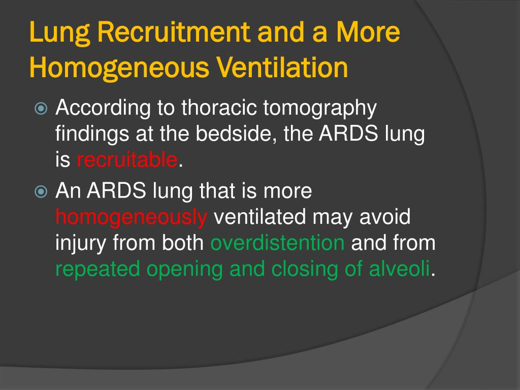 Lung Recruitment and a More