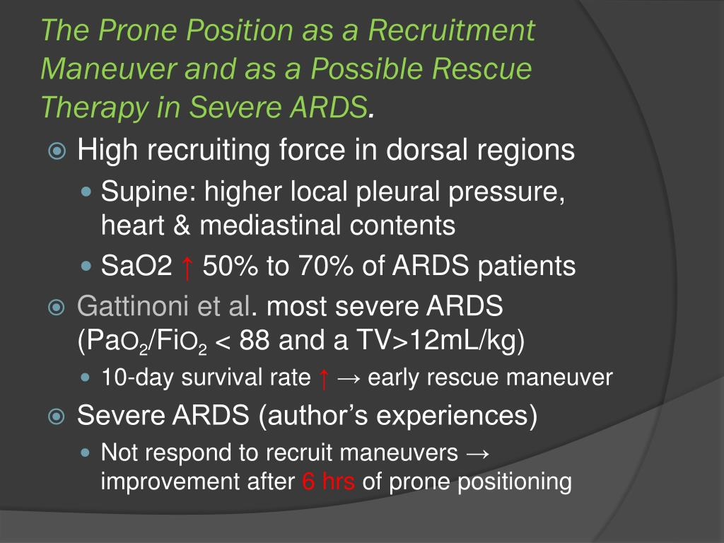 The Prone Position as a Recruitment