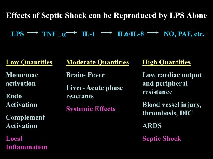 Effects of Septic Shock can be Reproduced by LPS Alone