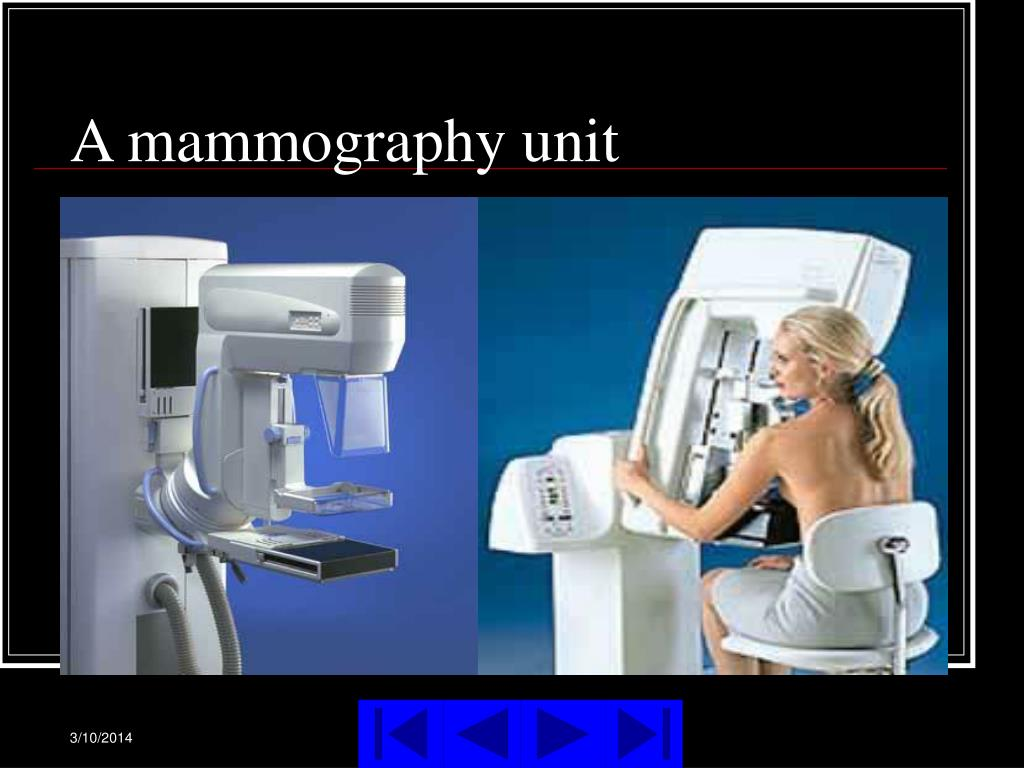A mammography unit
