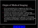 origin of medical imaging