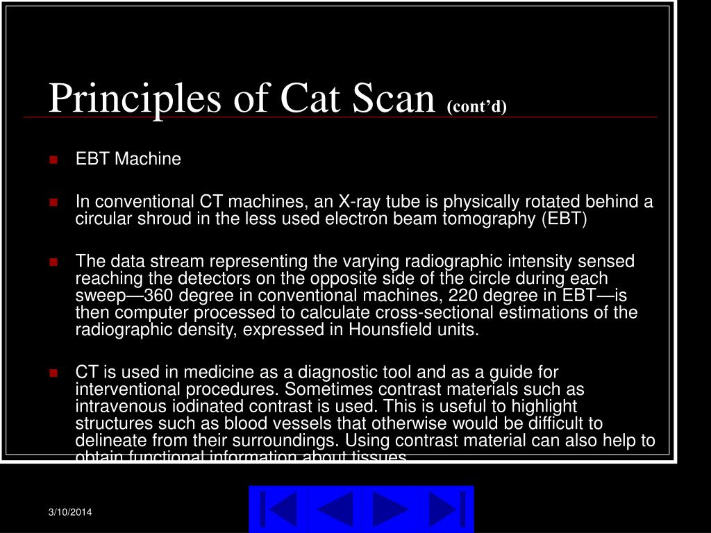 Principles of Cat Scan