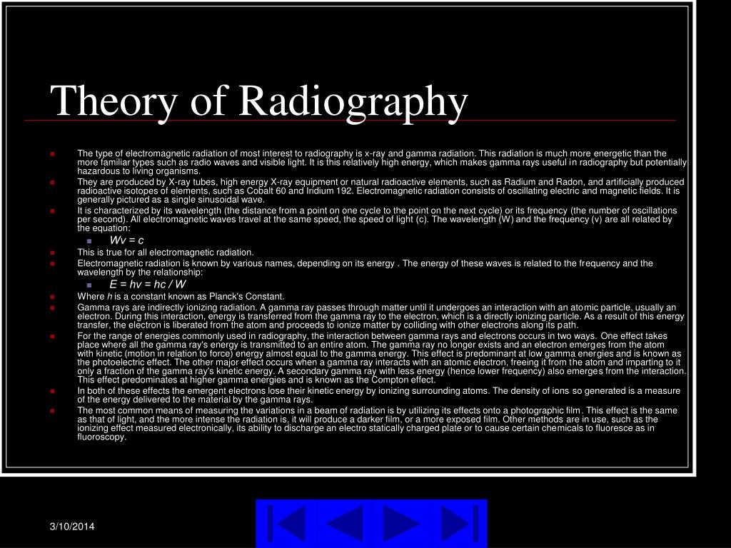 Theory of Radiography