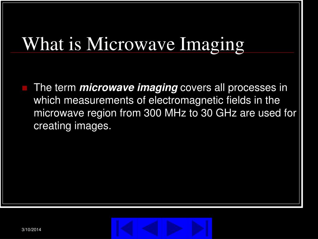 What is Microwave Imaging