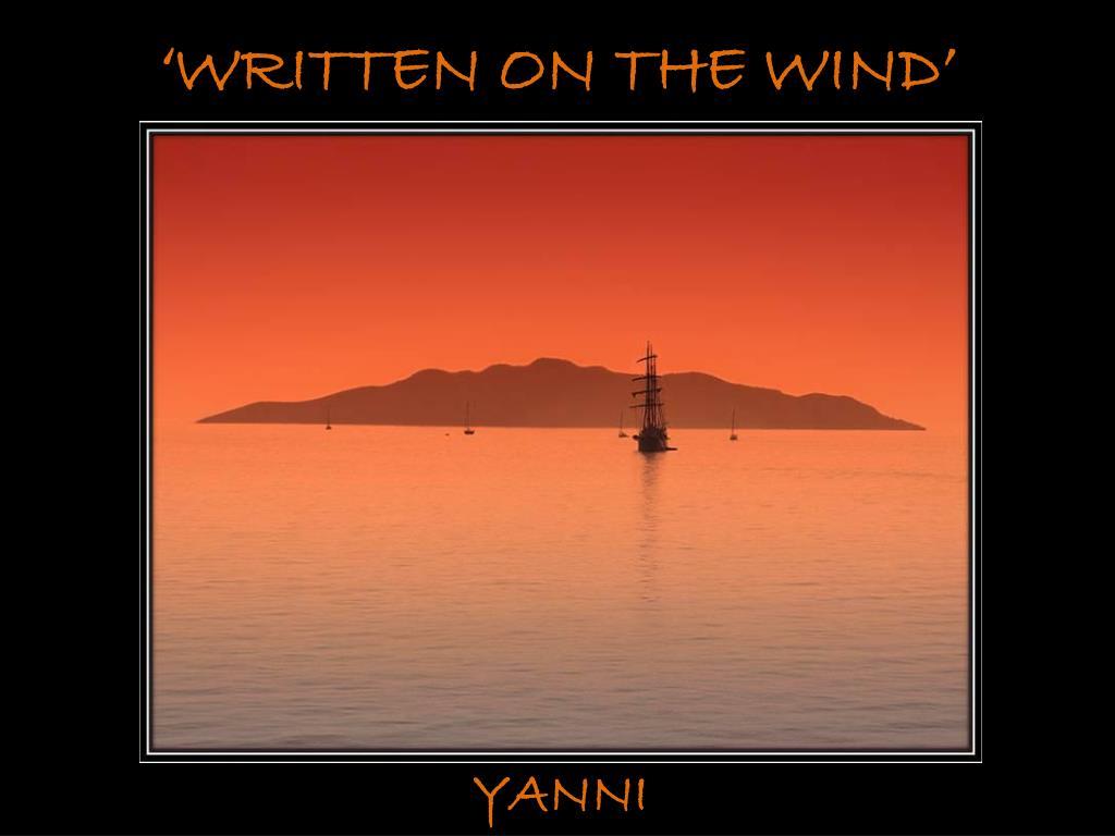 'WRITTEN ON THE WIND'