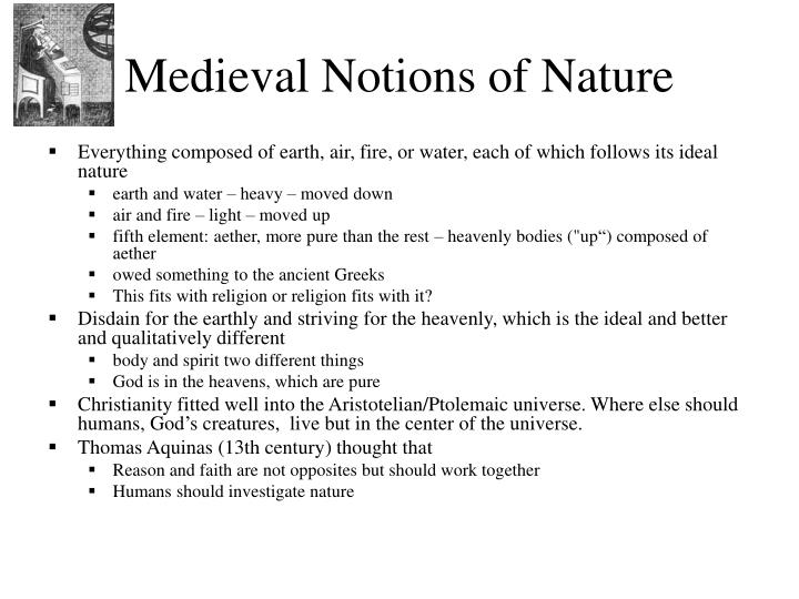 Medieval Notions of Nature