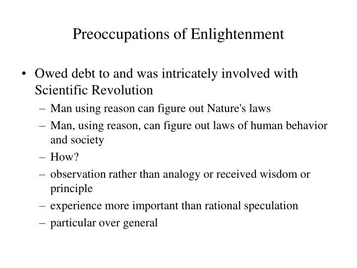 Preoccupations of Enlightenment