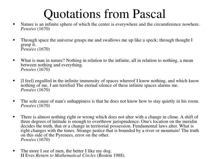 Quotations from Pascal