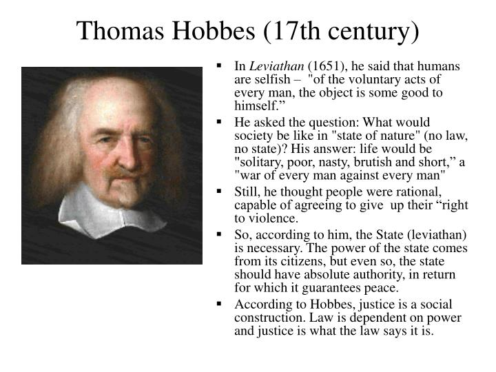 Thomas Hobbes (17th century)