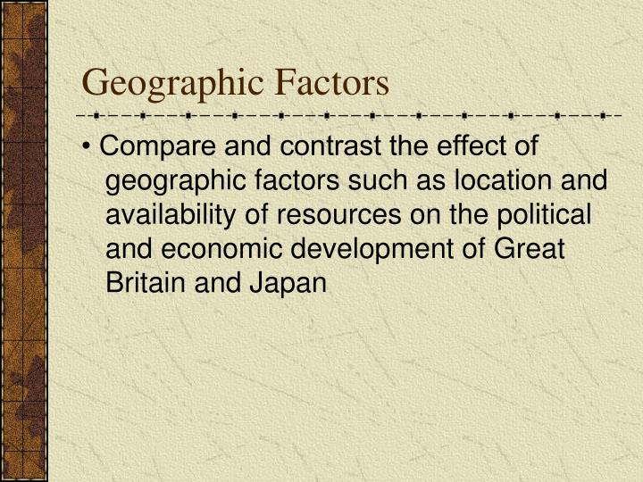 Geographic Factors