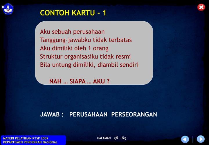 CONTOH KARTU - 1