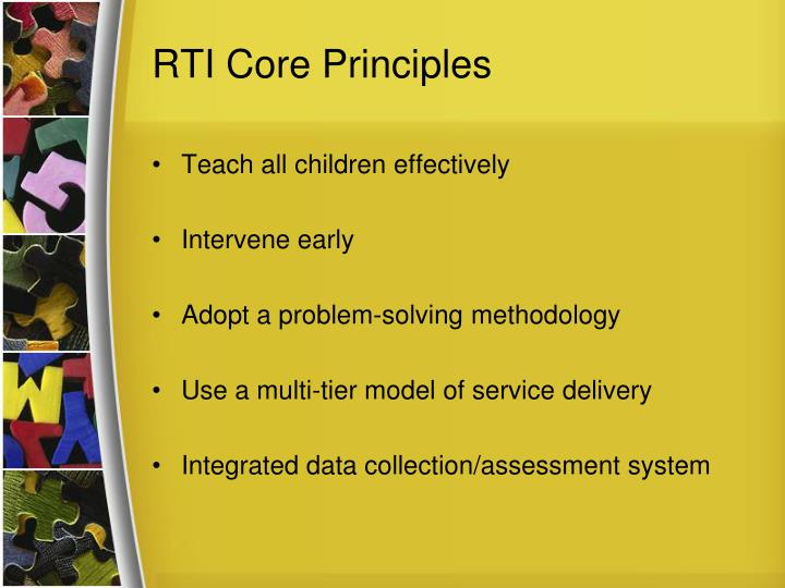 RTI Core Principles