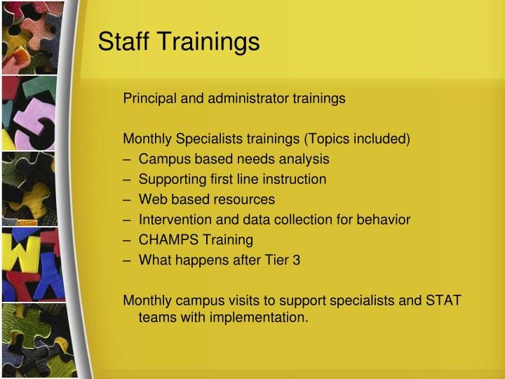 Staff Trainings