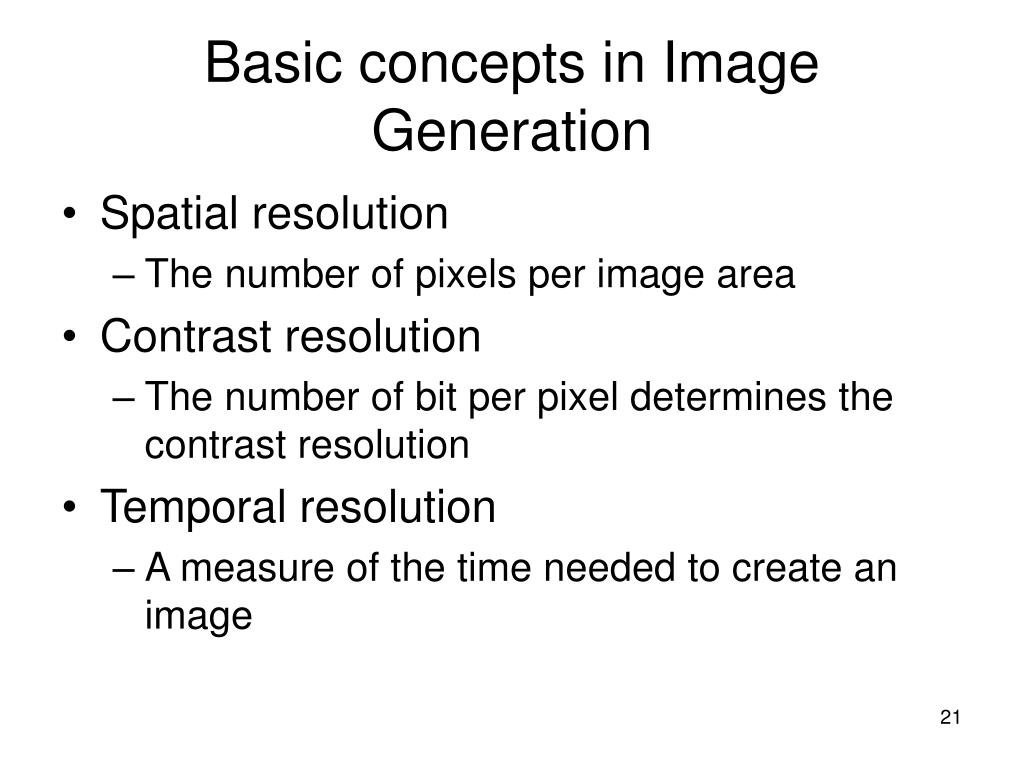 Basic concepts in Image Generation