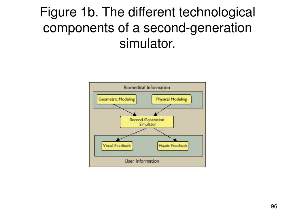 Figure 1b. The different technological components of a second-generation simulator.
