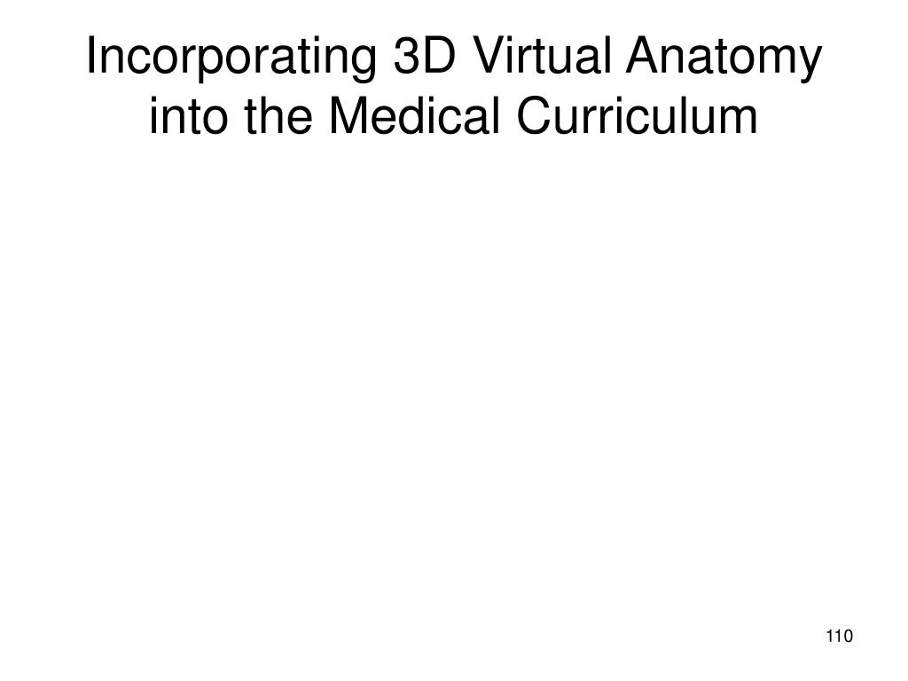 Incorporating 3D Virtual Anatomy into the Medical Curriculum