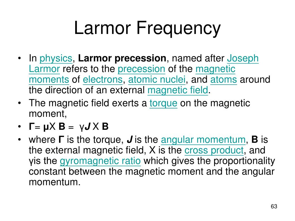 Larmor Frequency