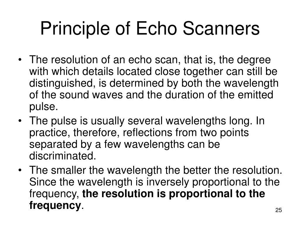 Principle of Echo Scanners
