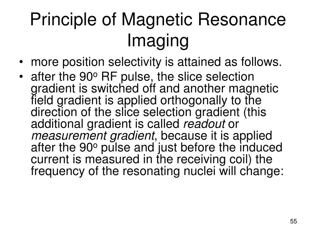 Principle of Magnetic Resonance Imaging
