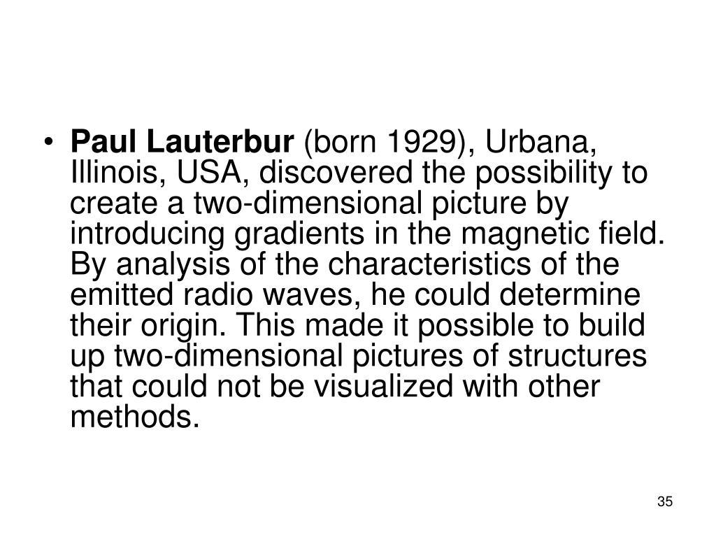 Paul Lauterbur