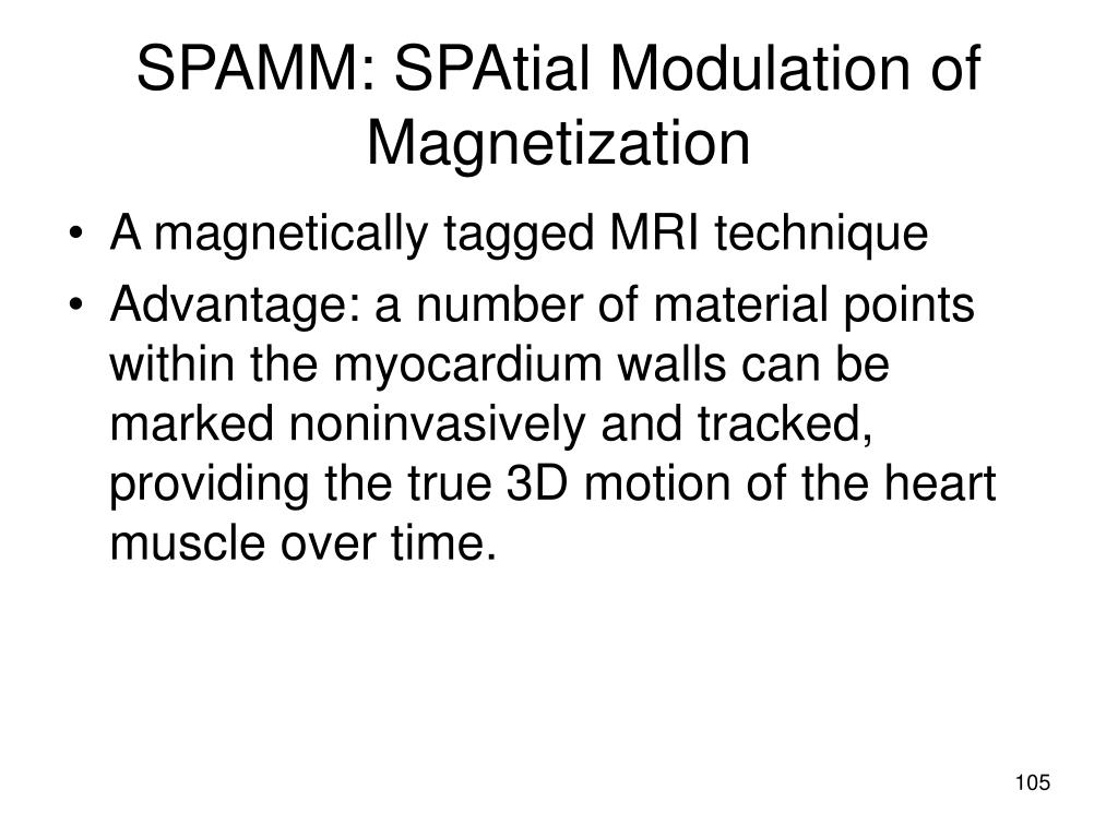 SPAMM: SPAtial Modulation of Magnetization