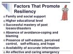 factors that promote resiliency