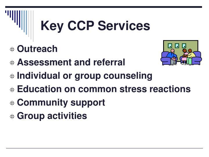 Key CCP Services