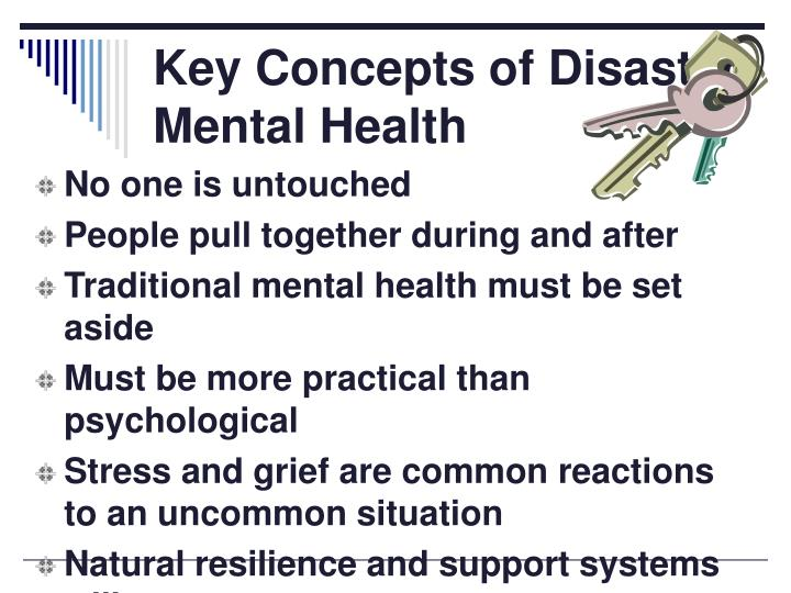 Key Concepts of Disaster Mental Health