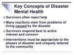 key concepts of disaster mental health1