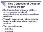 key concepts of disaster mental health2