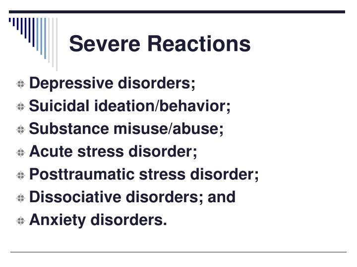 Severe Reactions