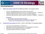 2009 10 strategy