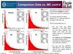 comparison data vs mc cont d