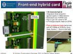 front end hybrid card