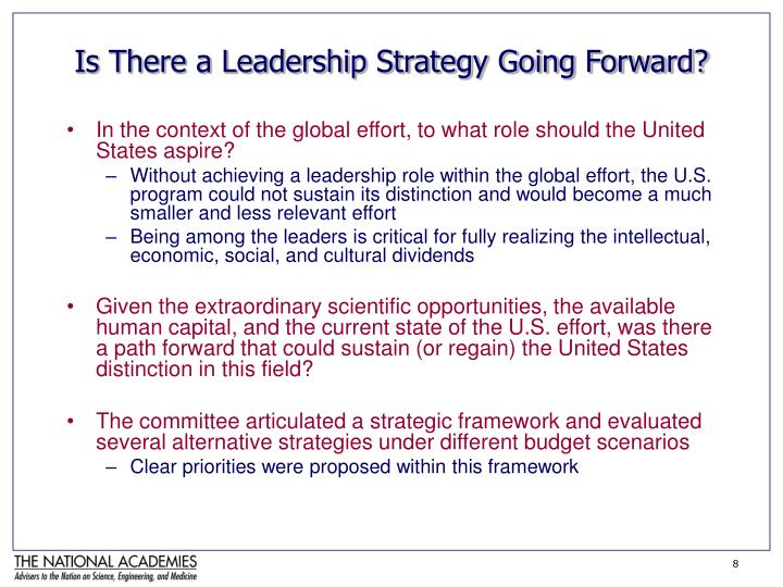 Is There a Leadership Strategy Going Forward?