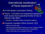 international coordination of fiscal expansion
