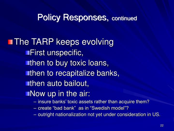Policy Responses,