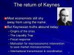 the return of keynes