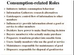 consumption related roles