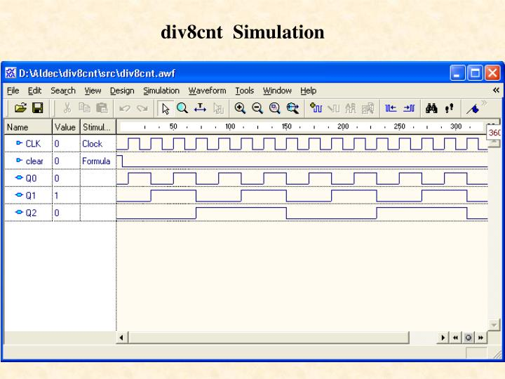 div8cnt  Simulation