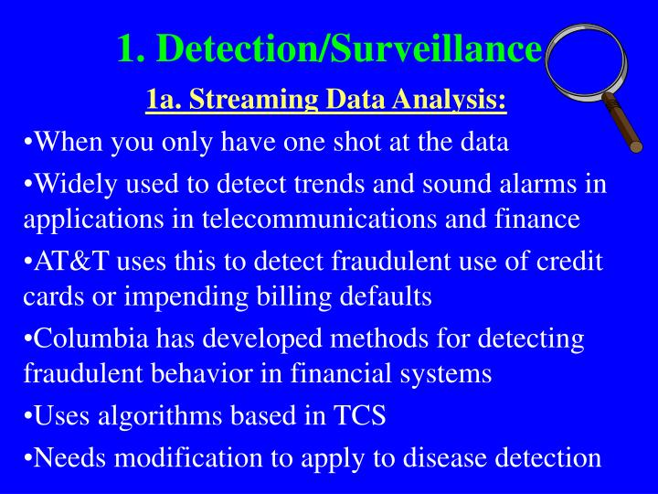 1. Detection/Surveillance