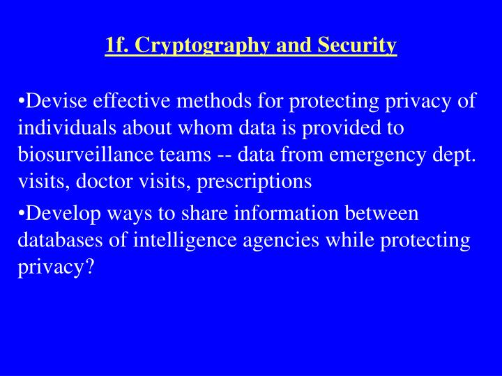 1f. Cryptography and Security