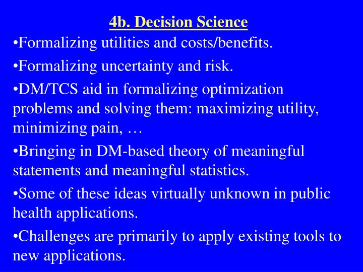4b. Decision Science