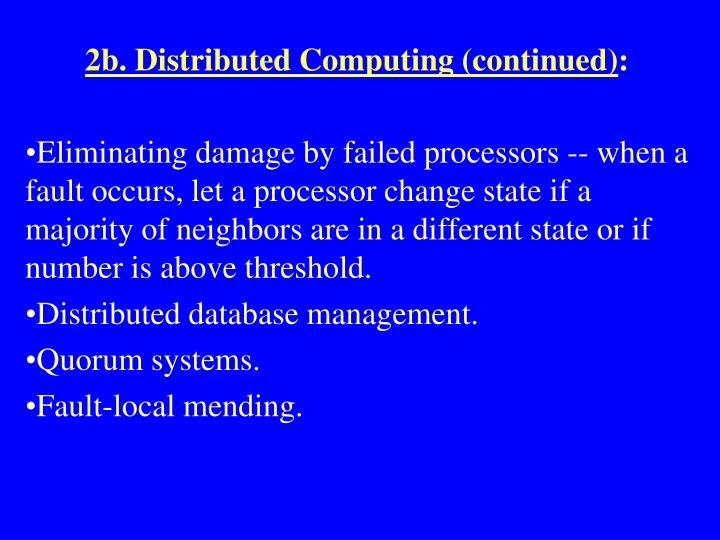 2b. Distributed Computing (continued)